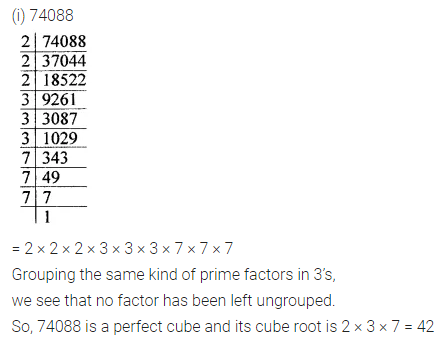 ICSE Understanding Mathematics Class 8 Solutions Chapter 4 Cubes and Cube Roots Check Your Progress Q1