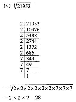 ML Aggarwal Maths for Class 8 Solutions Book Pdf Chapter 4 Cubes and Cube Roots Check Your Progress Q3.1