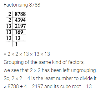 ICSE Class 8 Maths Book Solutions Free Download Pdf Chapter 4 Cubes and Cube Roots Check Your Progress Q6