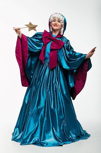 Женский карнавальный костюм Фея-крестная Золушки
