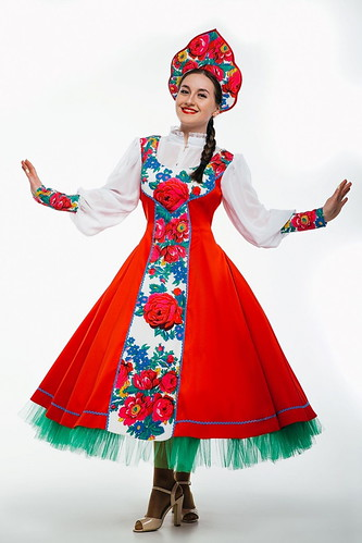 Женский карнавальный костюм Народный хороводный