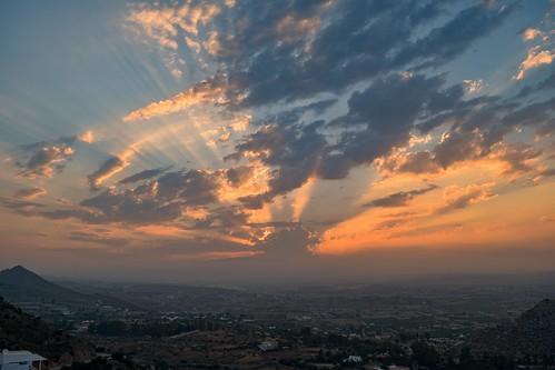 atardecer sunset sun clouds nubes mojácar almería landscape spain