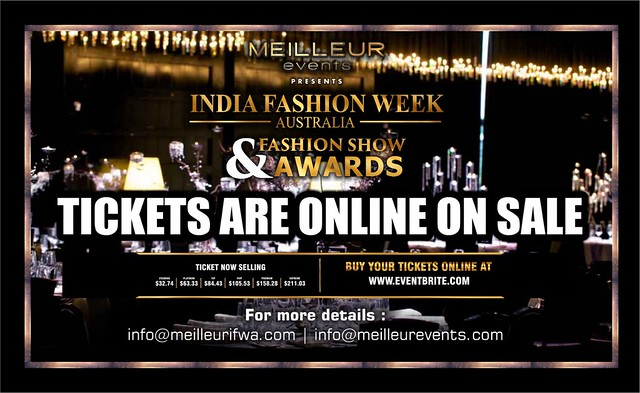 Tickets on SALE for INDIA FASHION WEEK AUSTRALIA