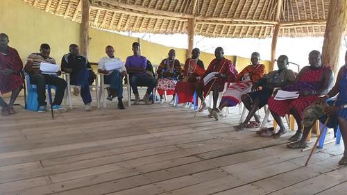 Members of Ol Kirmatian group ranch in Kajiado County, during a consultative meeting, 2019