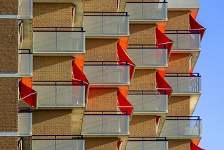 Orange sun screens