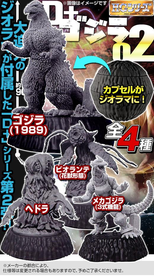 GASHAPON 嶄新「哥吉拉 HG D+系列」 第二彈 情報公開!ゴジラ HG D+ ゴジラ02