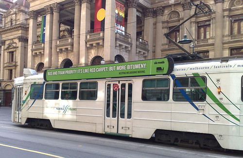 Advertising for bus and tram priority, July 2009