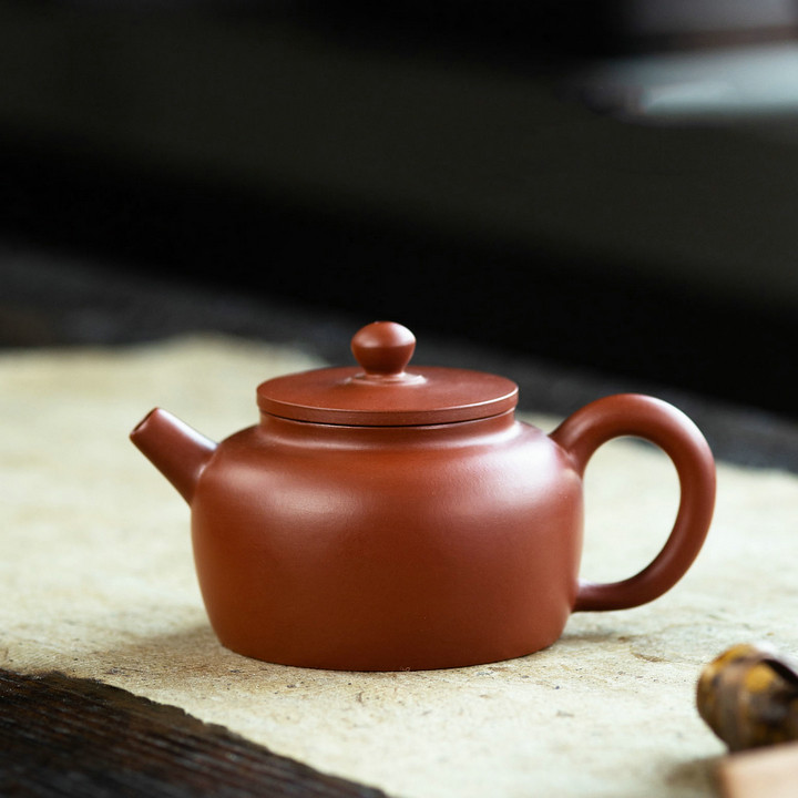 "Yixing ""Ping Gai Lian Zi"" Teapot Capacity around 100CC Made from ""zhu Ni"""