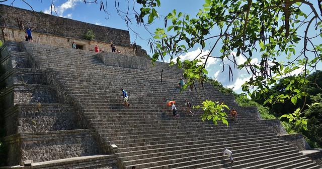 MEXIKO,Yucatán , Uxmal, Die Große  Pyramide,  19143/11806