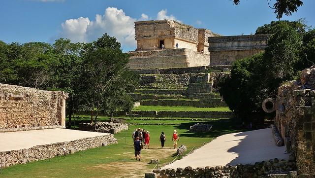 MEXIKO,Yucatán , Uxmal, am Ballspielplatz, 19141/11804