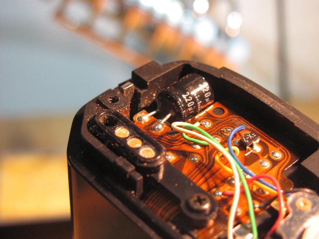 Minolta X-9 capacitor repair