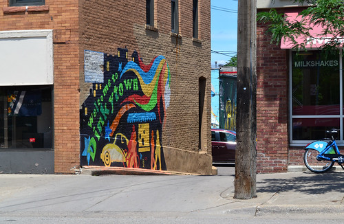 Welcome to Dinkytown Mural, 4th Street SE, Minneapolis | by mplstodd