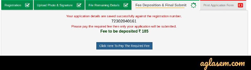 UPSSC Payment Detail Screen