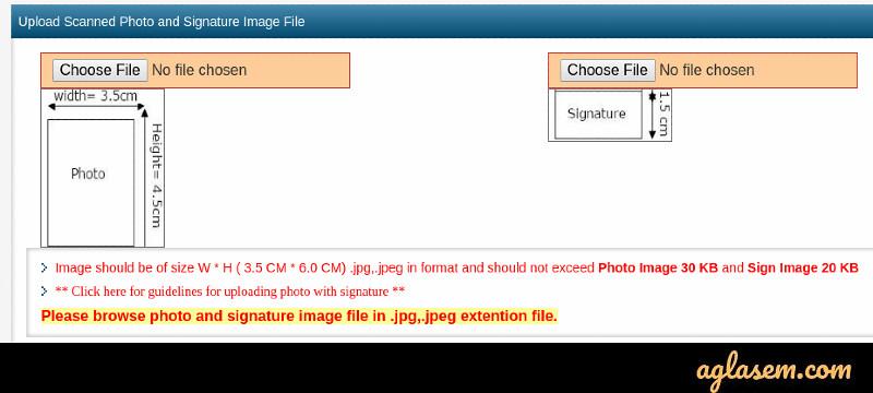 UPSSSC 2019 Document uploading Screen