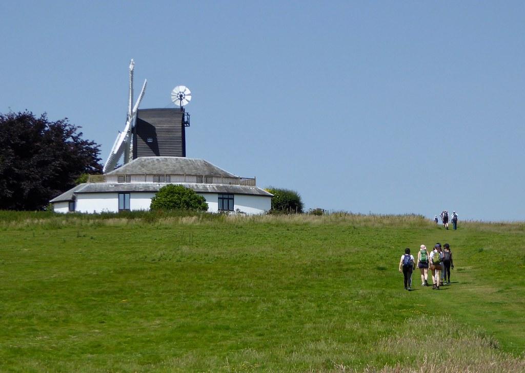 Windmill near Icklesham Winchelsea to Hastings via Three Oaks