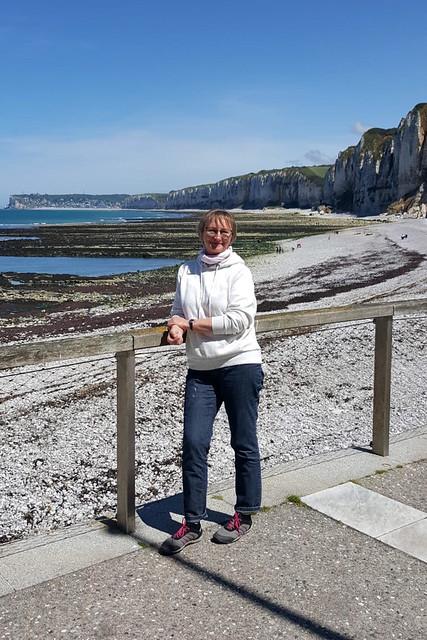 Mai/Juni 2019: Karla Kunstwadl mit Margit und Gerhard in der Normandie