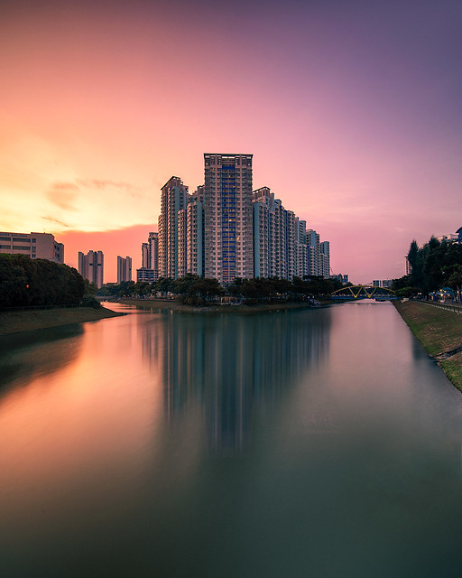 Kallang River sunset