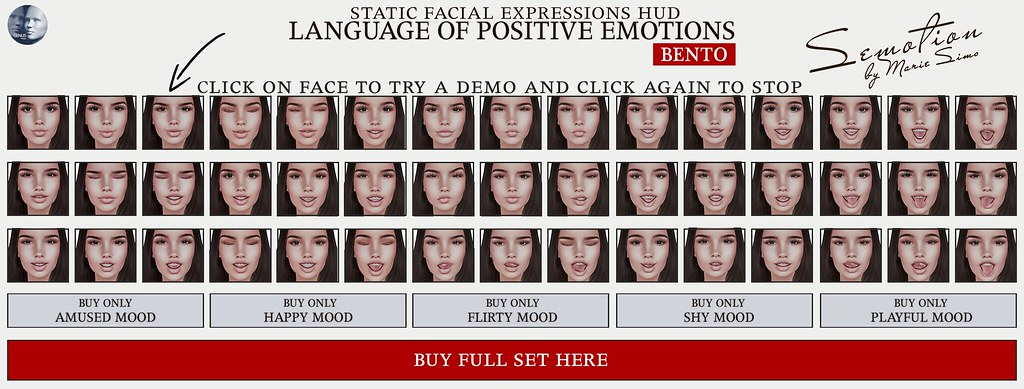 SEmotion Language of Positive Emotions HUD [GENUS] - TeleportHub.com Live!