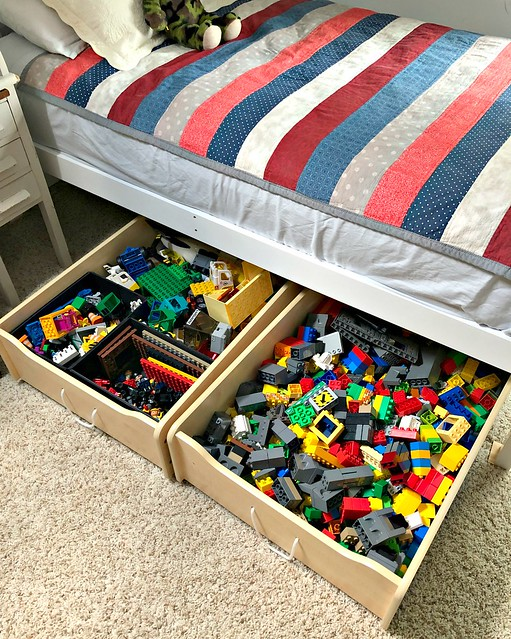 LEGO storage under the bed