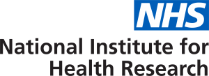 The NHS logo next to the text 'The National Institute of Health Research'