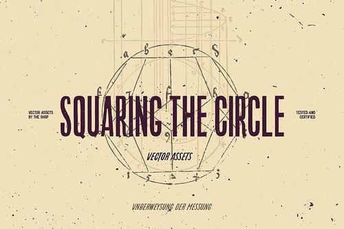 Squaring the circle vector assets