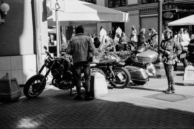 Bikers on the Arbat 📷