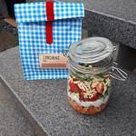 Kichererbsensalat mit Möhre Minze und Mandel