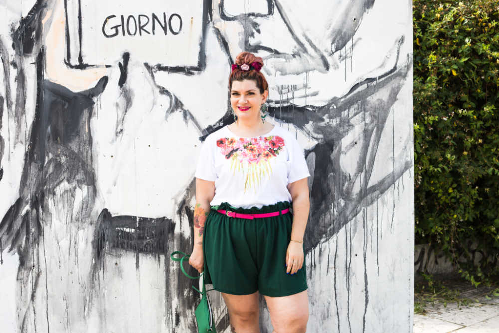 Outfit curvy plus size, tshirt Visione Italia (5)