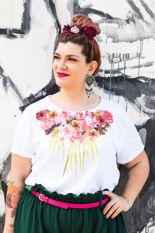 Outfit curvy plus size, tshirt Visione Italia (4)