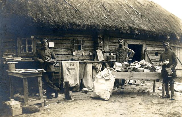 """""""Post des I. Batl. I. B. 19 im Poretschje Rußland 1916"""""""