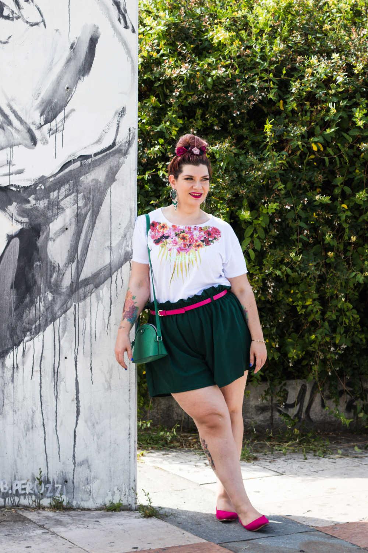 Outfit curvy plus size, tshirt Visione Italia (8)