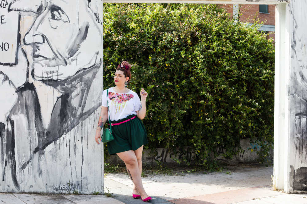 Outfit curvy plus size, tshirt Visione Italia (7)