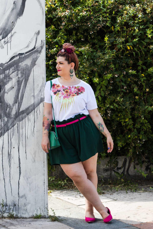 Outfit curvy plus size, tshirt Visione Italia (6)