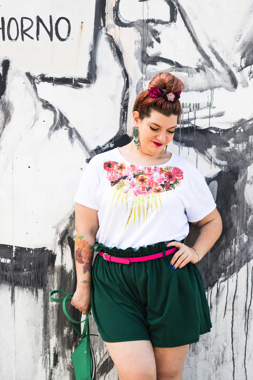 Outfit curvy plus size, tshirt Visione Italia (3)