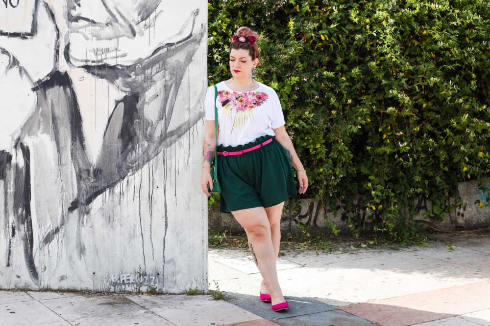 Outfit curvy plus size, tshirt Visione Italia (2)