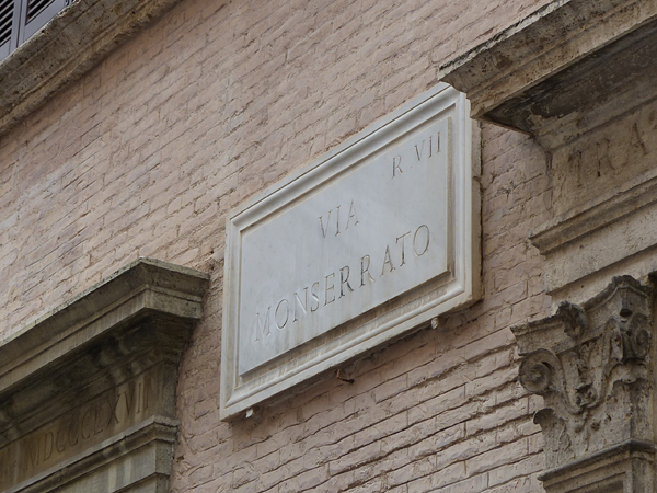via monserrato plaque