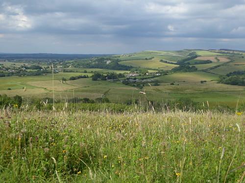 View northwards from Arundel Park Amberley to Arundel walk