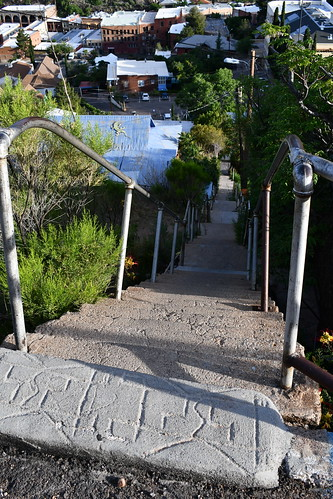 Bisbee Tour...one of many steep staircases. From History Comes Alive in Cochise County, Arizona