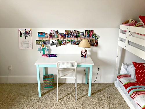 girls' desk area
