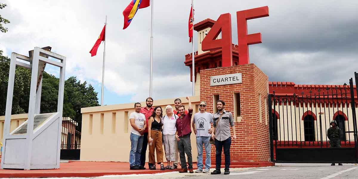 Colectivo de Protección de la Embajada de Venezuela en Washington visita el Cuartel de la Montaña