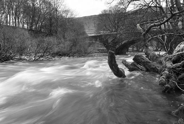 River Lune at Salterwath Bridge, Low Borrowbridge, Lune Gorge near Tebay, Cumbria, UK