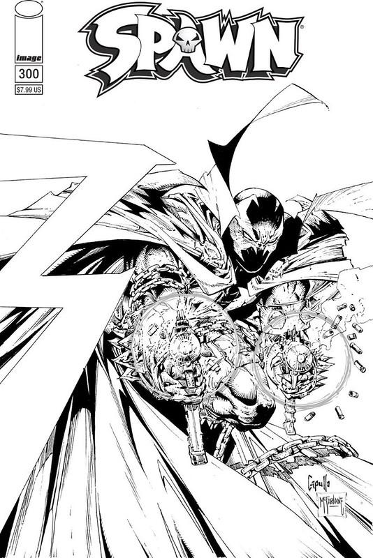 Image Comics - Spawn #300 (cover f, Greg Capullo & Todd McFarlane B&W)