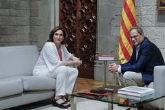 dt., 30/07/2019 - 11:42 - Barcelona 30.07.2019 Reunió de l'alcaldessa de Barcelona, Ada Colau, amb el president de la Generalitat, Quim Torra, al Palau de la Generalitat. Amb Motiu de l'inici del nou mandat municipal.