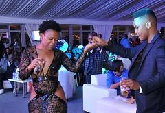 Zodwa Wabantu dancing with her boyfriend Ntokozo Linda