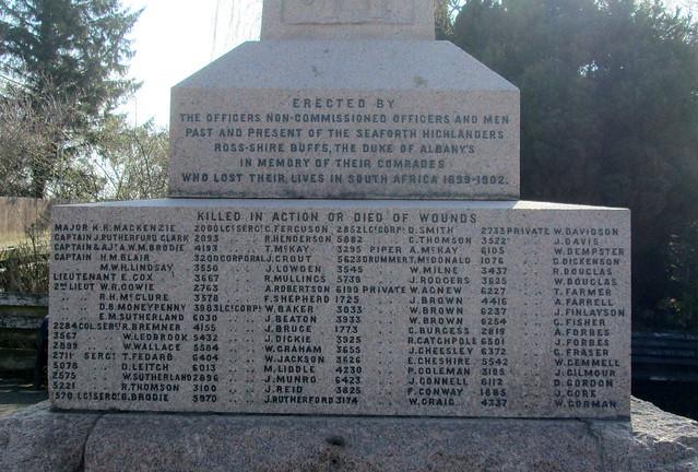 Boer War Memorial, Dingwall