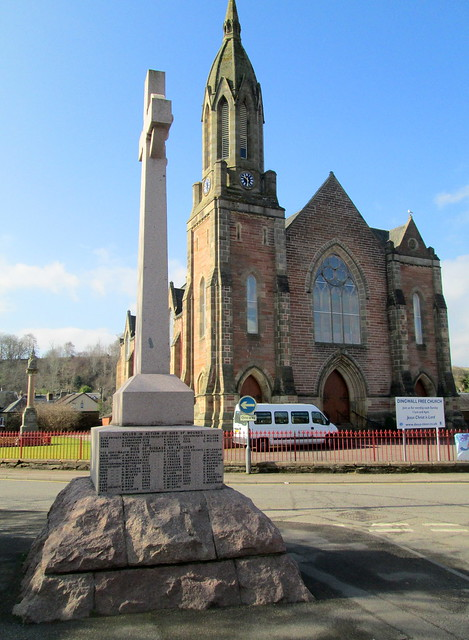 Boer War Memorial, Dingwall North Aspect