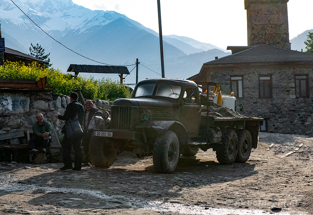 Old Russian truck ZIS-150