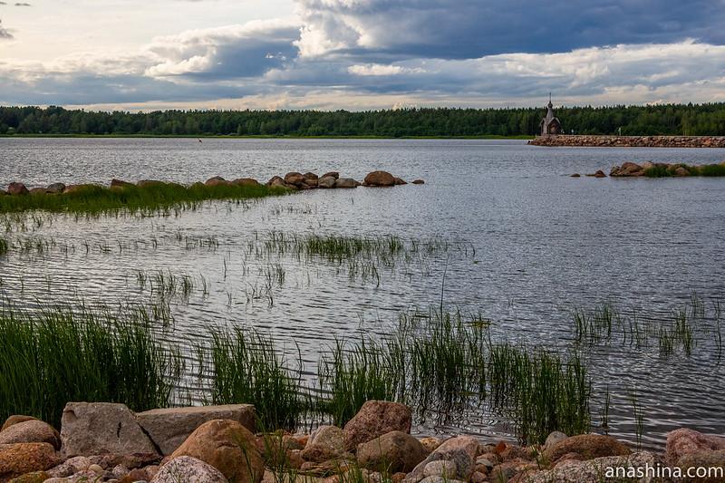"""Финский залив, база отдыха """"Окуневая"""", Балтийское море, часовня Николая Чудотворца"""