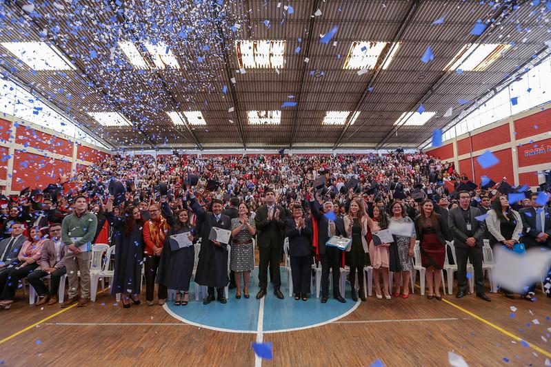 Graduación de los estudiantes de bachillerato de la Campaña Todos ABC 2017-2019