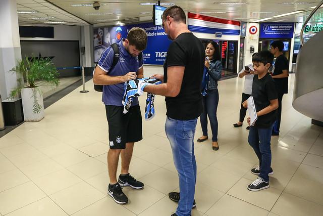 Chegada Grêmio em Assunção - 30/07/19